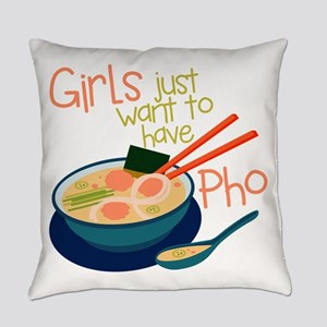 Girls Just Everyday Pillow