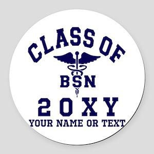 Class of 20?? Nursing (BSN) Round Car Magnet