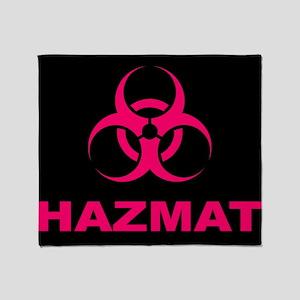 Geeky Pink Hazmat Throw Blanket