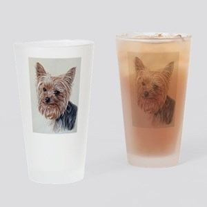 adorable yorkie Drinking Glass