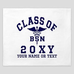 Class of 20?? Nursing (BSN) King Duvet