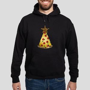 sequin pizza christmas tree Hoodie (dark)