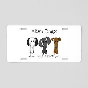 Alien Dogs Aluminum License Plate