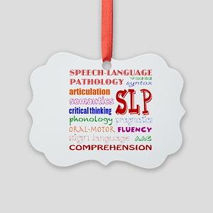 SLP Colorful Fun Font Picture Ornament