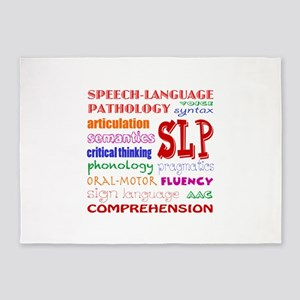 SLP Colorful Fun Font 5'x7'Area Rug
