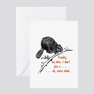 Frankly, my dear, I don't give a .. Greeting Cards