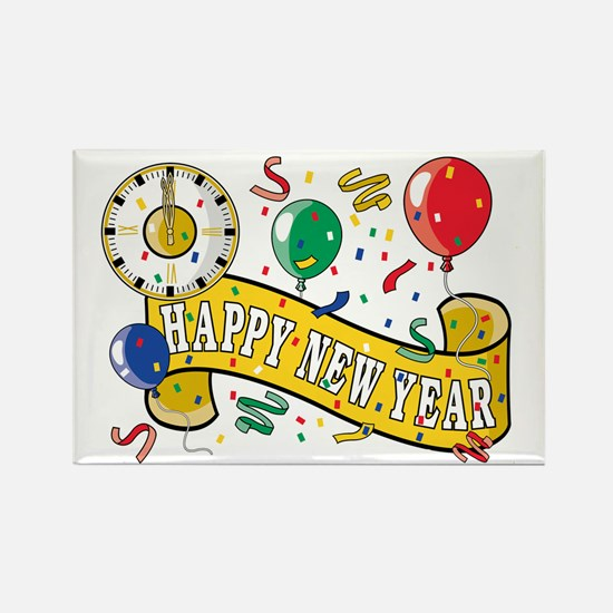 New Year's Party Rectangle Magnet