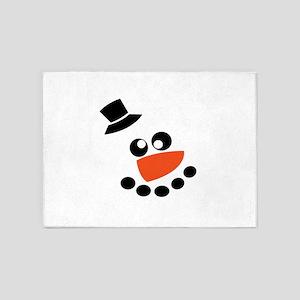 Snow Man 5'x7'Area Rug