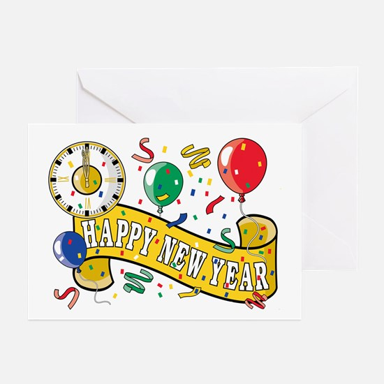 New Year's Party Greeting Cards (Pk of 10)