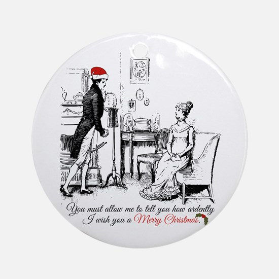 Ardently Merry Christmas Round Ornament