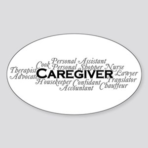 Caregiver Sticker (oval)