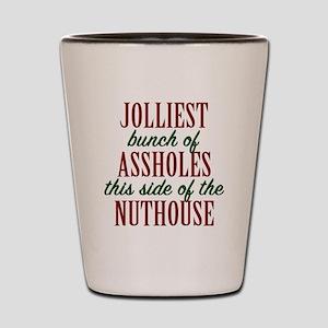 Jolliest Bunch Shot Glass