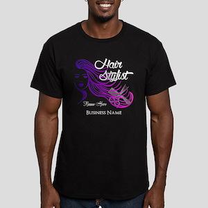 Hair Stylist Custom Men's Fitted T-Shirt (dark)