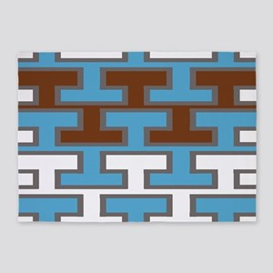 Manly Bricked Tiles 5'x7'Area Rug