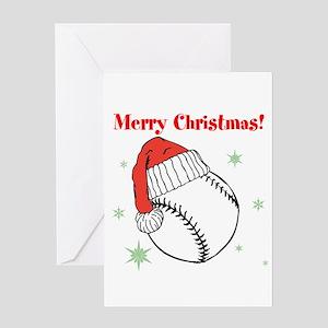 MerryChristmasBaseball Greeting Cards