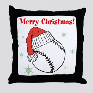MerryChristmasBaseball Throw Pillow