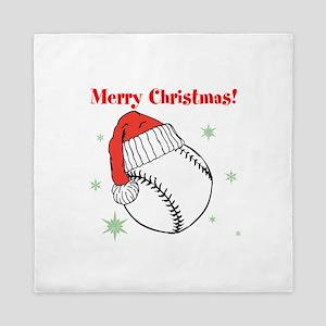 MerryChristmasBaseball Queen Duvet