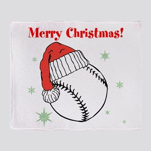 MerryChristmasBaseball Throw Blanket
