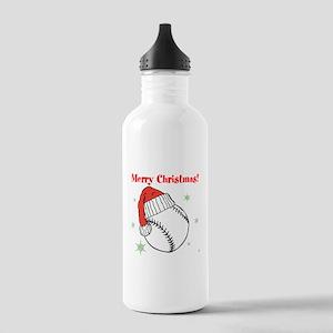 MerryChristmasBaseball Water Bottle