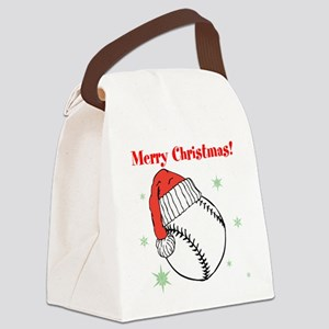 MerryChristmasBaseball Canvas Lunch Bag