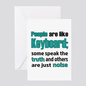 People are like Keyboard Greeting Card