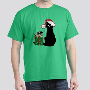 Santa Cat & Mouse Dark T-Shirt