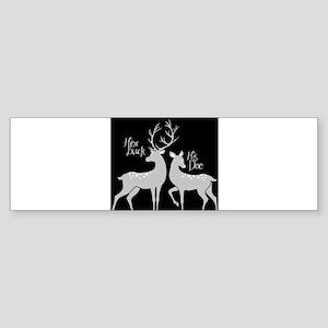 her buck his Bumper Sticker