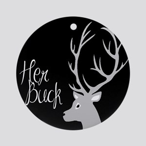 her buck Round Ornament