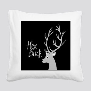 her buck Square Canvas Pillow