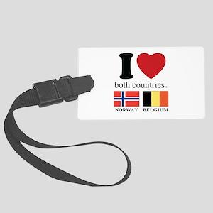 NORWAY-BELGIUM Large Luggage Tag