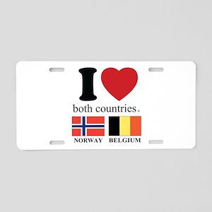 NORWAY-BELGIUM Aluminum License Plate