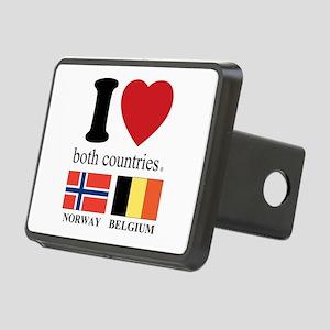 NORWAY-BELGIUM Rectangular Hitch Cover