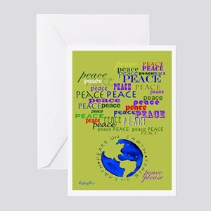 Peace Please Greeting Cards (pack Of 20)