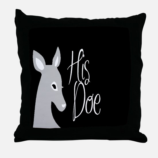 his doe Throw Pillow