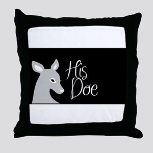 his doe Throw Pillow