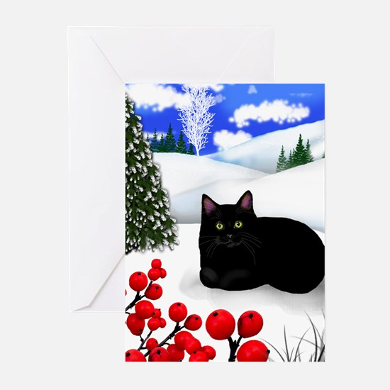 Cute Cat designs Greeting Cards (Pk of 20)