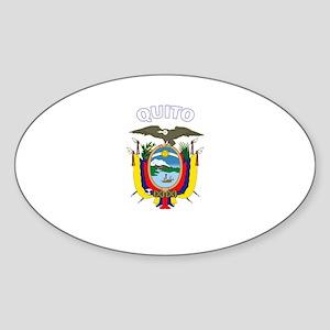 Quito, Ecuador Oval Sticker