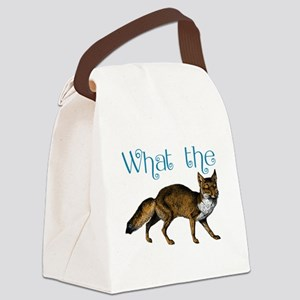 What the Fox Canvas Lunch Bag