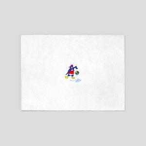 Playful Penguin 5'x7'Area Rug