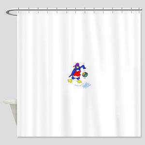 Playful Penguin Shower Curtain
