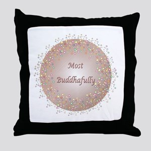Most Buddhafully RedPink Throw Pillow