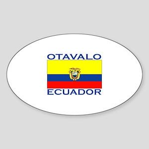 Otavalo, Ecuador Oval Sticker