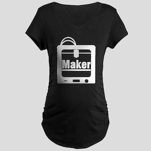 Maker 3D Printer Maternity T-Shirt