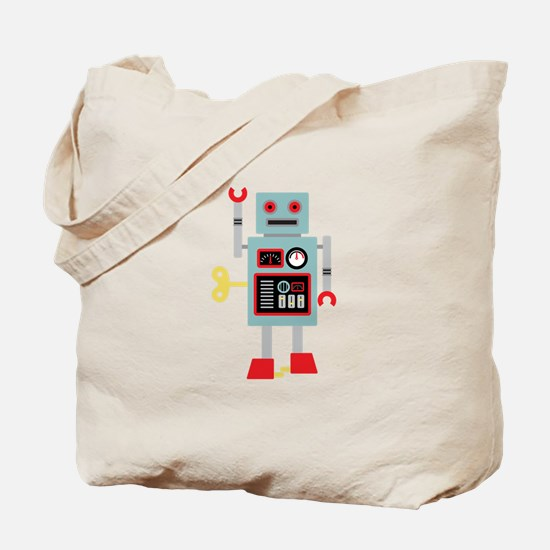 Robot Toy Tote Bag