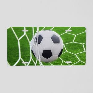Football Goal Aluminum License Plate