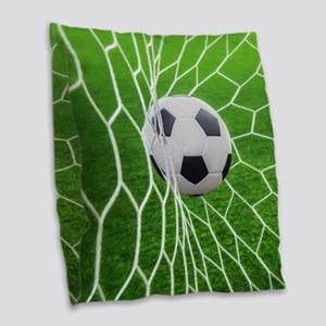 Football Goal Burlap Throw Pillow