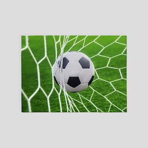 Football Goal 5 X7 Area Rug
