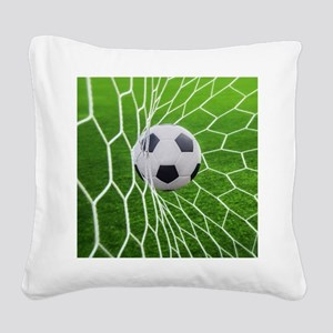 Football Goal Square Canvas Pillow
