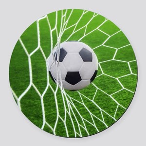 Football Goal Round Car Magnet