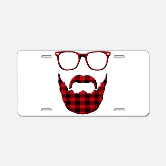Cute Moustache Aluminum License Plate